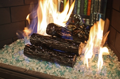 Soot Free Ceramic Coated Fire Logs