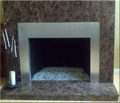 Aluminum Or Stainless Steel Fireplace Surrounds Stainless Steel Custom Frames For Fireplaces