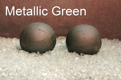 Painted Metallic Green Terracotta Fireball