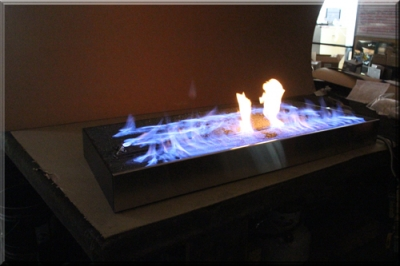 Stainless Steel Pan Black Magic Fireplace