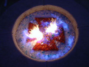 fire pit glass