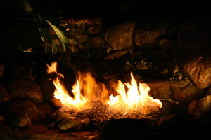 outdoor custom fire and water waterfall fountain 36