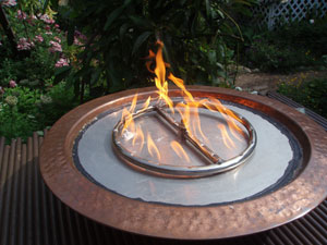 metal fire ring for fire pits with fireglass