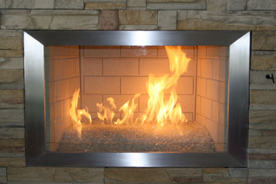 Aluminum Or Stainless Steel Fireplace Surrounds Stainless Steel