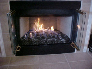 majestic fireplace designs with fire crystals