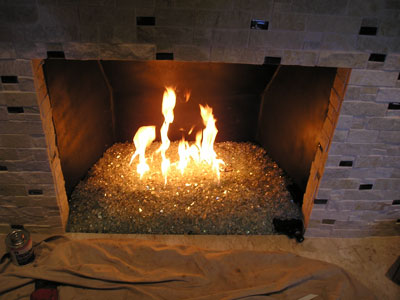 easy self install of a and glass fireplace or firepit