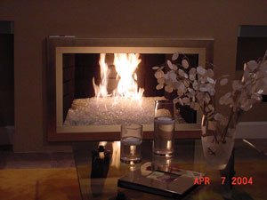 fireplace ideas with fire crystals