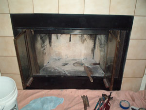 how to clean your fireplace