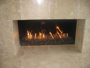 Installation Process Of A Clean Burning Fire Glass Fireplace Modern