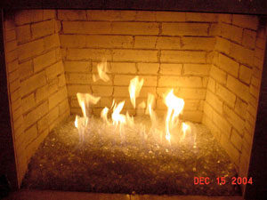 Installation process of a clean burning fire glass ...