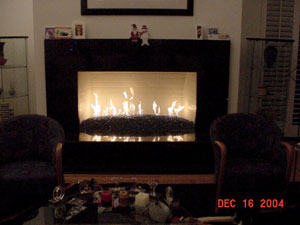 fireplace decor using fire crystals