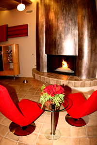 kathy Griffin celebrity home fireplace